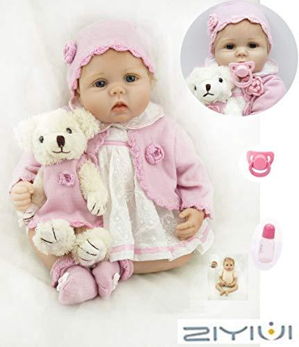 ZIYIUI Simulazione Reborn Baby Dolls 22 Pollici 55 Cm Realistica Bambole Reborn Morbido Silicone Vinile Bambola Reborn Femmine Bambino Fatto a Mano Ragazza Ragazzo Regalo
