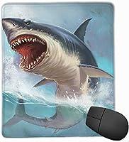 マウスパッド 怖いサメ シャチ柄 海 おしゃれ 高耐久性 滑り止め 防水 PC ラップトップ 水洗い レーザー 光学式 25*30cm