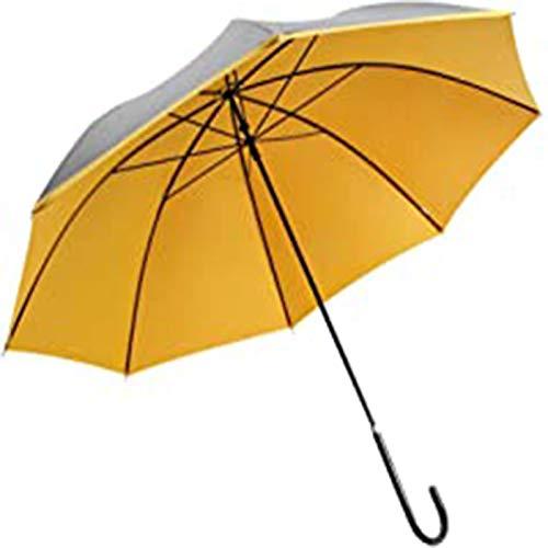 sombrilla Gran Paraguas De Palo De Golf, Protección UV A Prueba De Viento De 43 Pulgadas para 2 Personas Mujeres Mujeres, Mango De Cuero Clásico Ligero Paraguas Soleado