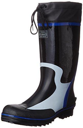 [富士手袋工業] 安全長靴 作業靴 カバー付 セーフティブーツ 892 メンズ BLACK 25.5cm