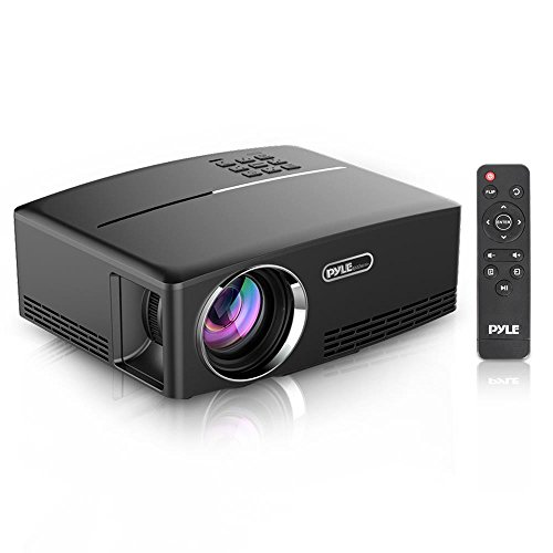 Pyle Multimedia Home Theater Projector - Portable HD 1080p LED with USB HDMI Digital Data System Projection for Entertainment Video Photo Game Full Cinema Movie in Your Laptop - PRJG98