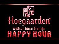 Hoegaarden Happy Hour LED看板 ネオンサイン ライト 電飾 広告用標識 W30cm x H20cm レッド