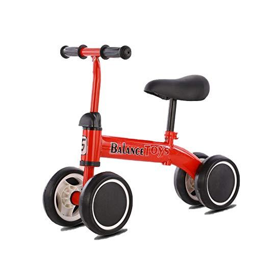 Kupper Coche de Equilibrio para niños, Scooter, montaña Rusa, Bicicleta sin niños, Bicicleta de Equilibrio de Cuatro Ruedas. Rojo.