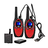 Retevis RT628 Walkie Talkies for Kids Rechargeable 22 Channel Long Range Boy Girl Teen 2 Way Radio Toy(Red, 2 Pack)