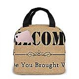 ¡Bienvenido! Espero que traigas vino bolsa de almuerzo bolsa de asas bolsas de almuerzo para mujeres hombres organizador de almuerzo almuerzo titular bolsa de almuerzo con aislamiento