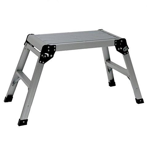 Oypla 150kg Folding Aluminium Work Platform Step Up Bench Ladder EN131