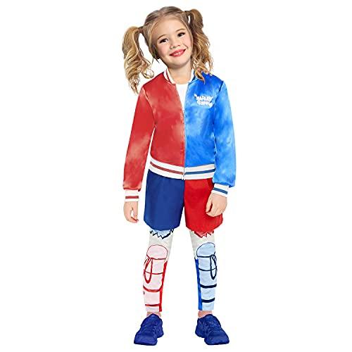 amscan 9907681 Disfraz de superhéroe Harley Quinn para niños de 6 a 8 años, multicolor