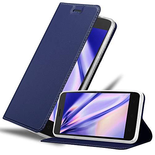 Cadorabo Hülle für Lenovo K6 / K6 Power in Classy DUNKEL BLAU - Handyhülle mit Magnetverschluss, Standfunktion & Kartenfach - Hülle Cover Schutzhülle Etui Tasche Book Klapp Style