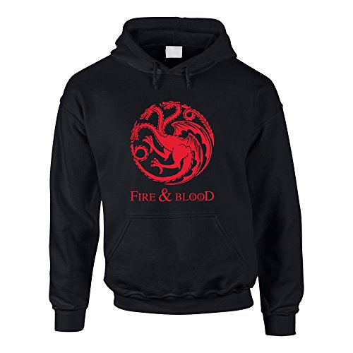 Game of Thrones - Fire & Blood - Targaryen - Herren Hoodie schwarz-rot XL