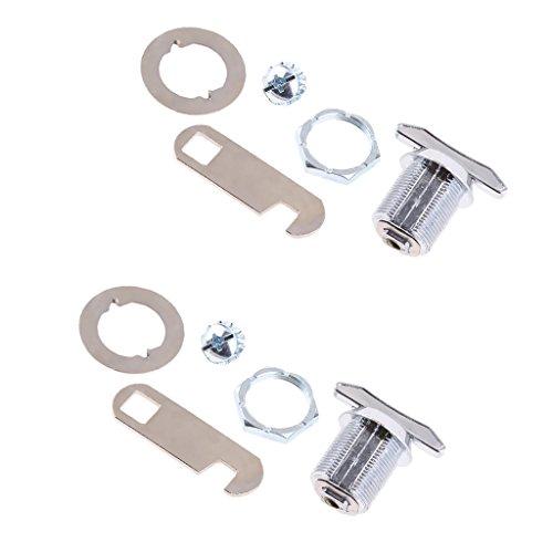 SDENSHI - 2 piezas 20 mm sin llave para torre Cam pequeño bloqueo y adaptador para armario cajón, caja de letras