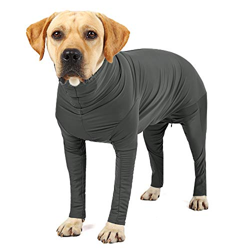 Etdane Dog Onesie Surgery Recovery Suit Prevent Shedding Hair Sport Shirt Anxiety Jumpsuits Pure Gray Small