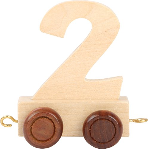 Buchstabenzug   Geburtstags Zahlen und Waggon mit Kerzenhalter   Holzeisenbahn   EbyReo® Namenszug aus Holz   personalisierbar   Geburtstag oder als Deko für den Geburtstagstisch (Zahl 2)
