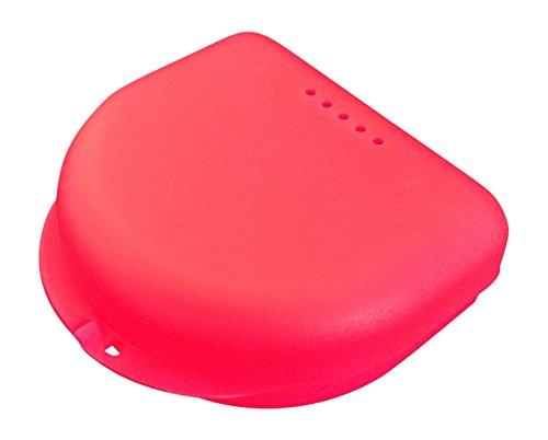 Caja pequeña para ortodoncia, frenillos, aparato dental, protector bucal (Pink Translucent)