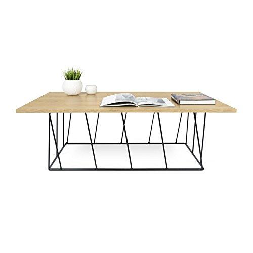 Paris Prix - Temahome - Table Basse Helix 120cm Chêne & Métal Noir