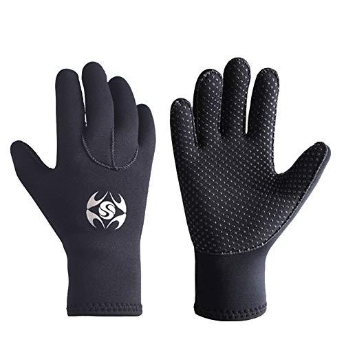 KAIGE Neoprenhandschuhe 3 mm Thermohandschuhe Anti-Rutsch-Handschuhe für Surf, Kajak, Tauchen, Wassersport Männer und Frauen Herren (M)