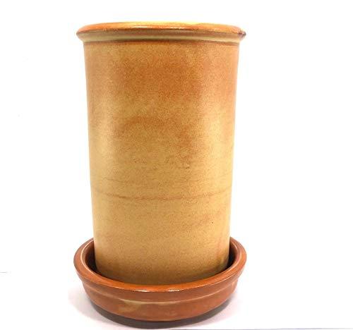 Domestic Weinkühler mit Unterteller aus Terracotta