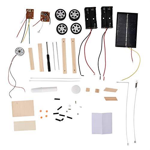 Montage Modellauto, DIY Montiert Solar RC Spielzeug Elektrische Fernbedienung Fahrzeug Student Wissenschaft Pädagogisches Experiment Auto Kit Balance Drive Fahrzeug Set für Kinder Kleinkind Kind