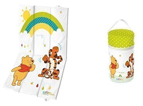 Set de voyage 2 pièces - Matelas à langer + Box Isotherme XXL Winnie Pooh blanc