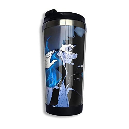 SHIJIAN My-Hero Academia-DABI - Taza de viaje con aislamiento de acero inoxidable, a prueba de derrames, taza de café aislada, 13 onzas (400 ml)