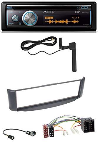 caraudio24 Pioneer DEH-X8700DAB CD USB Bluetooth DAB MP3 Autoradio für Smart ForTwo 450 grau ohne Metallschacht
