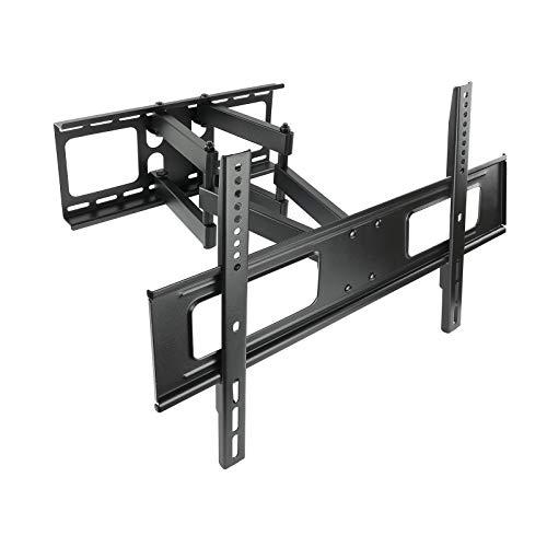 TooQ LP6270TN-B - Soporte fijo inclinable y giratorio de pared para monitor/TV/LED de 37' a 70', hasta 50kg de peso, distancia a la pared 64mm hasta 510mm, inclinacion -10º, giro 150º, formato VESA hasta 600x400, color negro