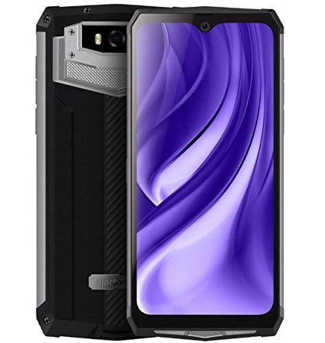 Blackview Rugged (2019) BV9100 Smartphone Robusto, Batteria 13000 mAh (60 Giorni in Standby), 6,3 pollici FHD +, Android 9.0, Octa Core 4GB + 64GB, 30 Wi ricarica rapida, 16MP + 16MP NFC OTG Argento
