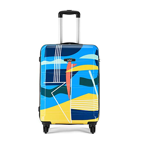 Safari Regloss 55 cm Printed Hardsided Cabin Luggage, Approved for Most Budget Airlines, Multicolor, Small