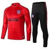 18-19 Atlético de Madrid Manga Larga, Traje de Entrenamiento, Traje de fútbol Informal, Traje, Ropa Deportiva Casual para Hombres @ Photo Color_M