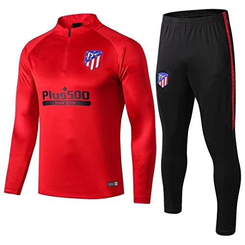 18-19 Atlético de Madrid Manga Larga, Traje de Entrenamiento, Traje de fútbol Informal, Traje, Ropa Deportiva Casual para Hombres @ Photo Color_XL