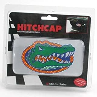 Stockdale Florida Gators Universal Hitch Receiver W/domed Emblem - Silver Background