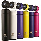 Coffee thermos,Coffee bottle,Tea Infuser Bottle,Smart Sports Water Bottle with LED Temperature...