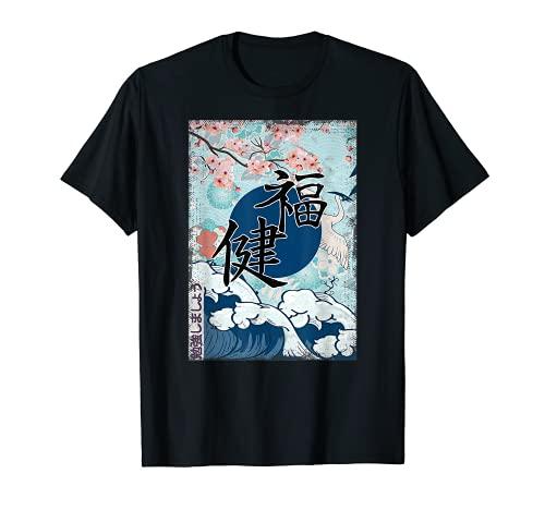 Anime japonais La vague Kanagawa Kimono Japon T-Shirt