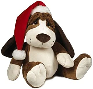 Oliver Droopy Dog - Santa Hat Plush Toy