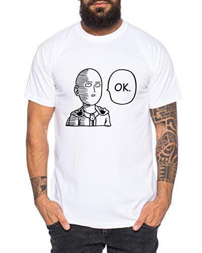 Saitama Ok Camiseta de Hombre Saitama Punch One Anime Manga