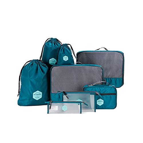 ZWL Organizer Valigia Set di 8, Cubi da Viaggio, Cubi di Imballaggio Organizer Valigia Essential Organizer Borse da Viaggio Impermeabili Sacchetto da Viaggio