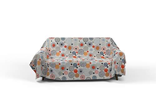 Italian Bed Linen Fantasy Acquerello Telo Copritutto Stampato 1 Posto, Microfibra