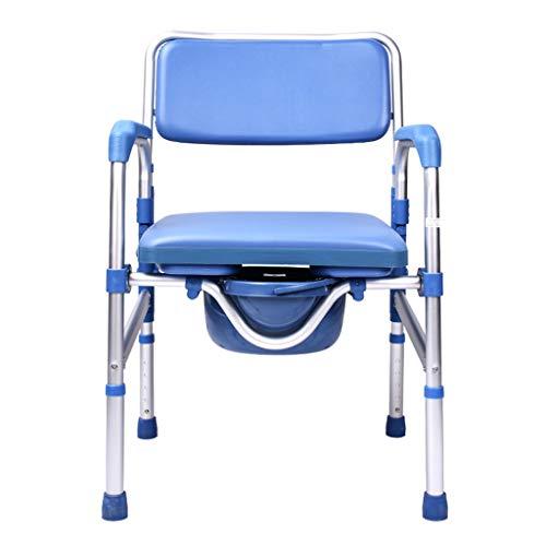LXYu-Toilettenstuhl Faltbare Kommoden Bariatrischer Duschstuhl, Älteres Töpfchen Toilleten Sitz, Abnehmbare Teile zur Aufbewahrung, Ältere Menschen, Wiederherstellung nach Operation, Behinderte