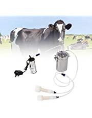 Fournyaa Kit de ordeño de Vacas de Gran Capacidad, máquina de ordeño eléctrica, portátil de Acero Inoxidable para ordeño de ovejas y Cabras(For Sheep)