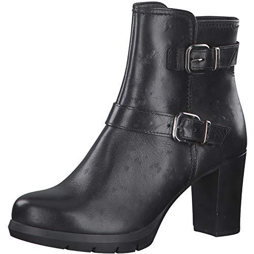 Tamaris Damen Stiefeletten, Frauen Ankle Boots, reißverschluss weiblich Lady Ladies Women's Women Woman Abend elegant Feier,Black,38 EU / 5 UK
