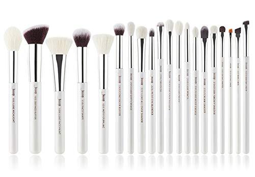 GDYX Pinceau de maquillage Ensemble de pinceaux de maquillage blanc nacré/argenté, pinceau de maquillage pour les fards à paupières Beauty Foundation haute qualité Chine T245 (20PCS)