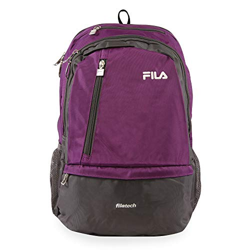 Fila Duel School Laptop Computer Tablet Book Bag Backpack, Purple