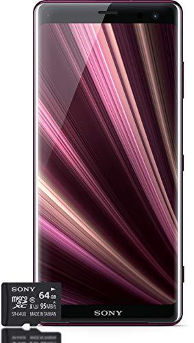 Sony Xperia XZ3 Smartphone Bundle (15,2 cm (6 Zoll) OLED Display, Dual-SIM, 64 GB interner Speicher, 4 GB RAM, Android 9.0) Red + gratis 64 GB Speicherkarte [Exklusiv bei Amazon] – Deutsche Version
