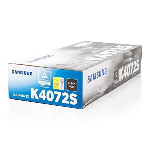 Original Samsung CLT-K4072S / K4072S, für CLP-320 N Premium Drucker-Kartusche, Schwarz, 1500 Seiten