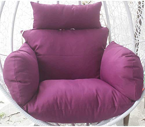 Furniture Hanging Nest Seat Cushions extra-comfortable Soft Removable Swing Wicker Chair Cushion Hanging Basket Cradle Cushion Navy Blue-Purple Amazing