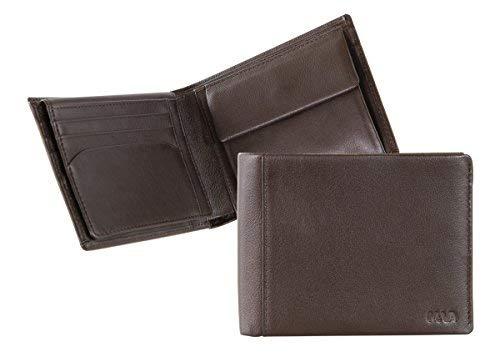 NAVA Portafoglio uomo con flap, 7 carte di credito e portamonete colore Marrone