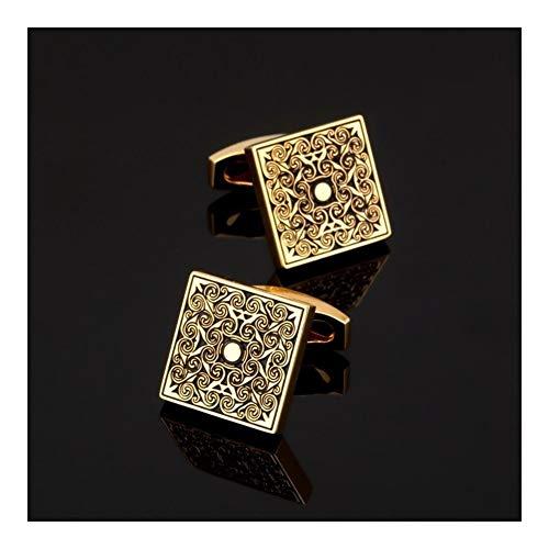 LUOSI Fibra Hombres Oro Gemelos Series/Rose/Tarjetas/Grabado