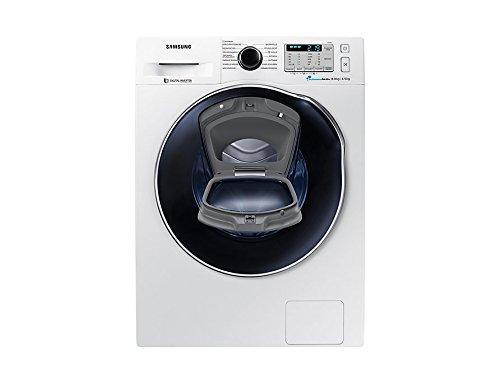 Samsung profondità 45 cm WD8XK5A03OW/EG lavasciuga Caricamento frontale Libera installazione Bianco A