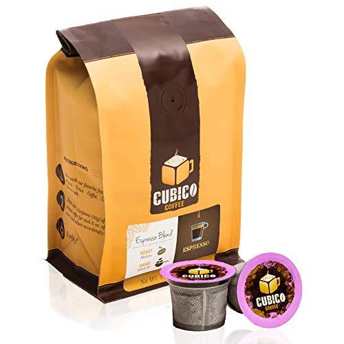 Espresso Blend - Single Serve Capsules for Keurig K-Cup Brewers - Freshly Roasted Coffee - Cubico Coffee - (10 Capsules Dark Roast)