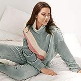 Las Mujeres De Manga Larga Pijama Conjunto Conjuntos de pijamas Set de vacaciones pijama Zip Fleece 2-Piece contraste completo Señora Traje chaqueta con capucha Pijamas de Mujer Inicio Ocio, Suave, Có