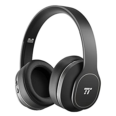 Active Noise Cancelling Headphones, TaoTronics [BH047 Upgrade] Wireless Bluetooth Headphones Over Ear with 24 Hrs playtime Foldable Soft Protein Ear Pads Design for Travel Work TV PC Cellphone by TaoTronics